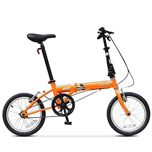 Nengge Mini-fiets, 16 inch, inklapbaar, voor volwassenen, mannen, vrouwen, studenten, opvouwbaar, mono-speed, staal, hoog koolstofgehalte micro – vouwfiets