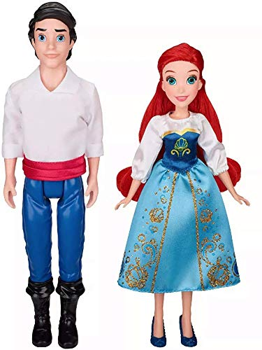 Disney Princess Ariel and Prince Eric 12 inch Doll Set, The Little Mermaid 30 Years