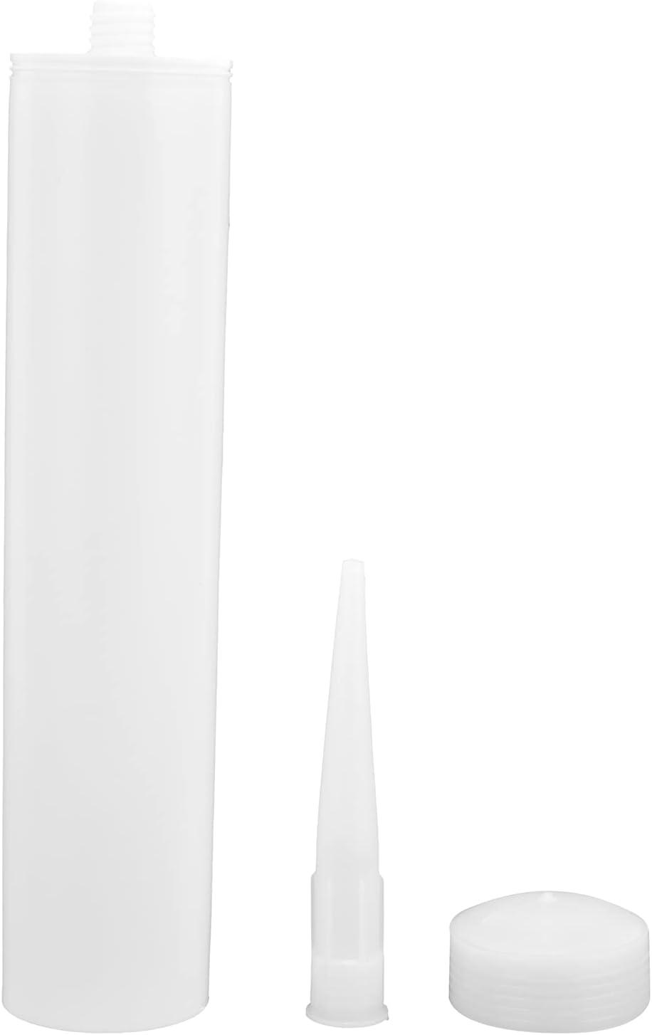 YIUS 5 Sets Caulk Tube 300ml PC Nozzle Sealant 4 years warranty Squeeze SALENEW very popular Caulking