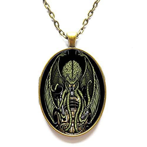 Collar hecho a mano, colgante de cúpula de cristal Kraken, regalo para ella, joyería libre nekel, collar delicado, collar simple, N118