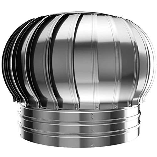 LTLJX Cubierta de Chimenea, Giratorio Extractor de Humo Pivotantes, Chimeneas Estufa de Acero Inoxidable Sombrero Eolico para Todos Los Sistemas de Ventilación de Pared,300mm