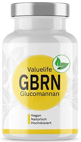 Glucomannan G-BRN - Natürlicher Appetithemmer zur Diät-Begleitung - Verstärkt mit Feigenkaktus, Flohsamenschalen, Grüner Tee - 150 Kapseln von VALUELIFE