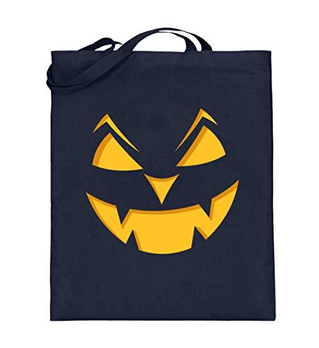 Bolsa de yute con cara de calabaza, regalo para fans de Halloween, bolsa de algodn, color Azul, talla 38cm-42cm