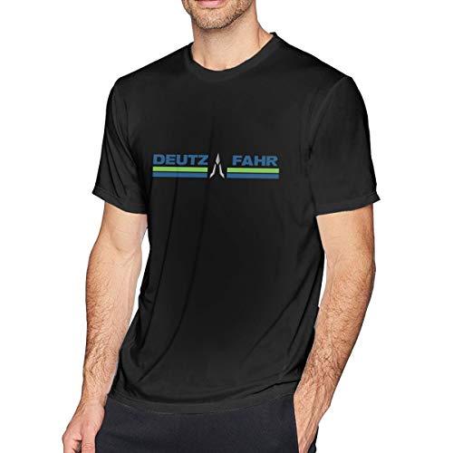 Deutz-Fahr Kurzärmliges T-Shirt Aus Baumwolle Für Herren, Lässiger Und Bequemer Home Office Sport.6XL