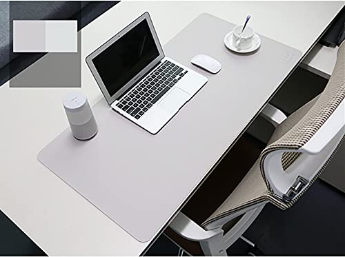 BUBM Alfombrilla para ratón de Piel sintética Resistente al Agua, Alfombrilla Escribir, para la Oficina y el hogar, Ultrafina de 2 mm, 80 x 40 cm(Gris)