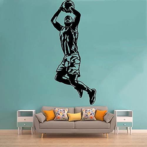 REGF Pegatinas de Pared para Jugador de Baloncesto decoración de habitación para niños calcomanías de Vinilo para Vivir Mural extraíble para decoración del hogar