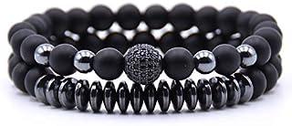 New 2021 Amazing Black Matte Stone Beaded Bracelet Women Men Natural Healing Meditation Aromatherapy Crystal Lava Stone Es...