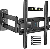 PERLESMITH TV Wall Mount Bracket Full Motion Single Articulating Arm for Most 32-55