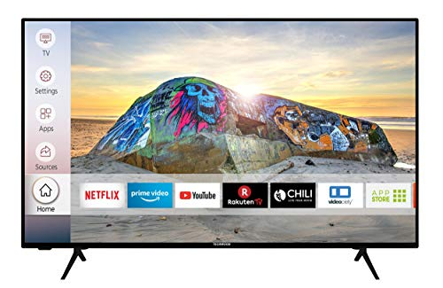 Techwood U43T52E 108 cm / 43 Zoll Fernseher (Smart TV inkl. Prime Video / Netflix / YouTube, 4K UHD mit Dolby Vision HDR / HDR 10 + HLG, Works with Alexa, Triple-Tuner) [Modelljahr 2020]