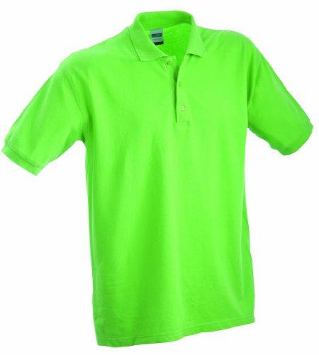 James & Nicholson Jungen Classic Polo Junior Poloshirt, Grün (grün Lime-Green), Large (Herstellergröße: L (134/140))