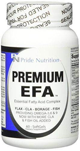 #1 Fish Oil Omega 3 6 9 EFA with EPA DHA CLA GLA Flax & Borage- More Than Just Fish Oil- Premium EFA 60 Pills- Essential Fatty Acids Supplement for Weight Loss Heart Health & Joint Relief