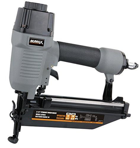 NuMax SFN64 Straight Finish Nailer 16 Gauge Ergonomic & Lightweight Pneumatic Nail Gun with Depth Adjust & No-Mar Tip (Renewed)