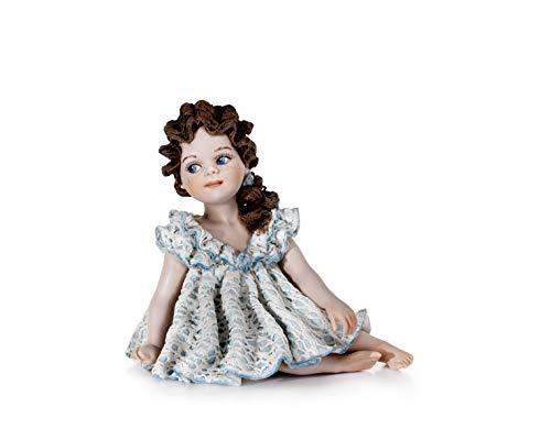 Statue van porselein grace - pop van porselein, handgemaakt, klassiek, Vicentina - Made in Italy