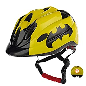 Atphfety Kids Bike Helmets,CPSC Certified,Adjustable Multi-Sport Safety Helmet with LED Light for Cycling Skate Scooter… -