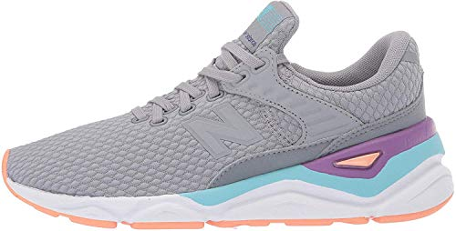 New Balance X-90, Damenschuhe, Grau (Steel/Coral Reef Clf), 39 EU (6 UK)