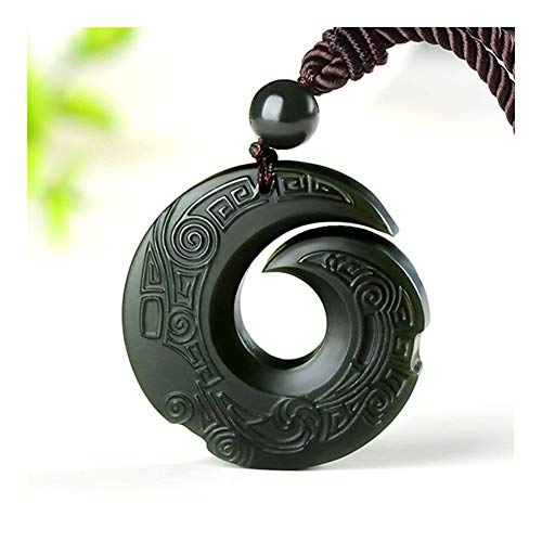 La Joyería Natural del Jade De Hetian Colgante, Collar De Jade For Los Hombres Budista Regalo Collar Afortunado del Colgante