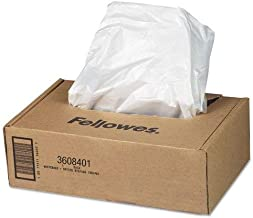 Fellowes Powershred Waste Bags for AutoMax 500C and 300C Auto Feed Shredders, 50 Bags & Ties (3608401)