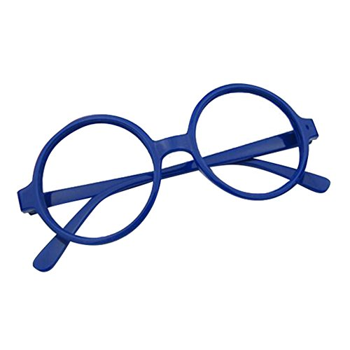 Junkai Mädchen Junge Brillen - Rund Stil Brille Kunststoff Brillenfassung Keine Objektive Gläser für Baby Kinder Unisex
