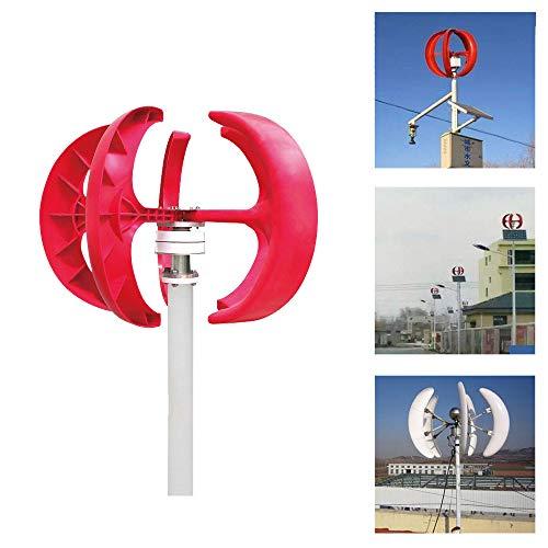 Aerogeneradores Eólicos Verticales 12v, Generador De Viento Vertical 400 W Vawt Generador De Turbina De Viento De Eje Vertical + Controlador
