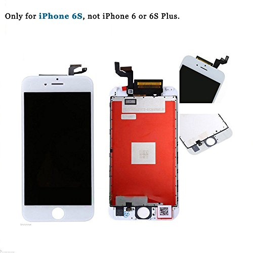 EXW for iPhone 6S LCD Display LCD Screen Digitizer Replacement 3D Touch Screen Frame Assembly Full Set for iPhone 6S 4.7 inch (White)