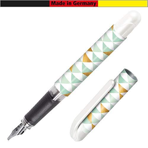 Online 12542/3D - Penna stilografica per calligrafia College Best Writer NeoMint Triangle, cartucce d'inchiostro standard, pennino da 1,8 mm, impugnatura ergonomica Soft Touch