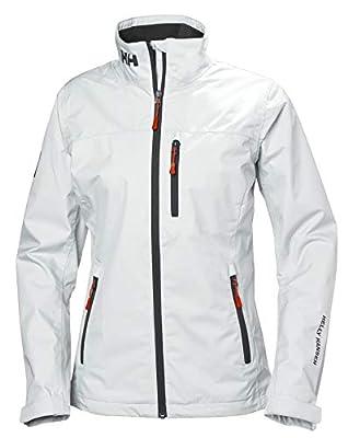Helly Hansen Women's Crew Waterproof Windproof Breathable Rain Coat Jacket, 002 White, Small