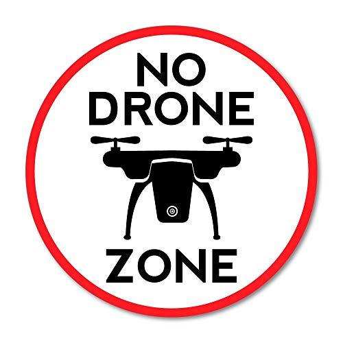 No Drone Zone Sticker Decal Car Mailbox Bin Label Jar Can Van Truck