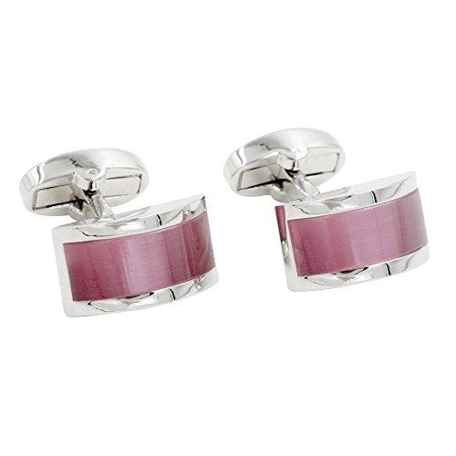 Manschettenknöpfe mit rosa Saphir Stein Manschettenknöpfe mit rubinrotem Stein | 5 Jahre Garantie | Mit Geschenkschachtel | Qualität Manschettenknöpfe | Manschettenknöpfe Zubehör