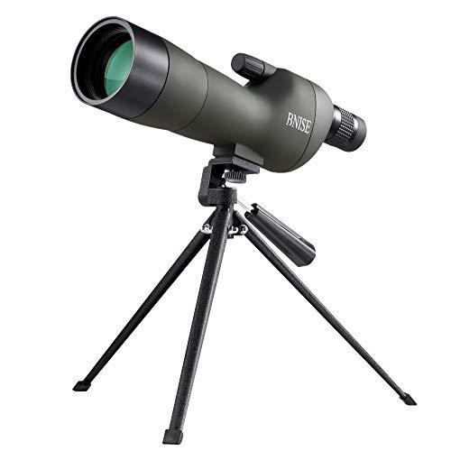 BNISE Telescopio Terrestre, Con Zoom Resistente al Agua 20-60x60, Lentes ópticas recubiertas...
