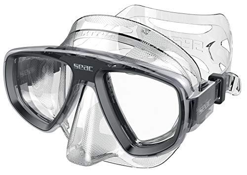 SEAC Extreme 50 Máscara de Buceo y Pesca submarina con Lentes ópticas Opcionales, Unisex Adulto, Transparente/Negro, One Size
