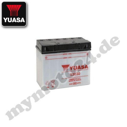 Batteria YUASA 53030, 12V/30AH (dimensioni: 186x 130x 171)