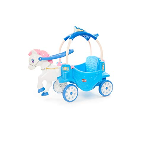 Little Tikes Princess Horse & Carriage - Frosty Blue Ride-On