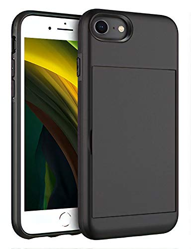 iPhone SE 2nd Generation 2020, iPhone 8, iPhone 7 Shockproof Pocket Case with Protective Wallet for Credit Card and ID Holder with Magnet Cover