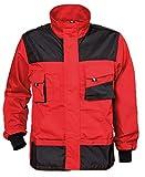 Stenso Emerton® - Chaqueta de Trabajo Multiusos para Hombre - Durable - Rojo/Negro 60