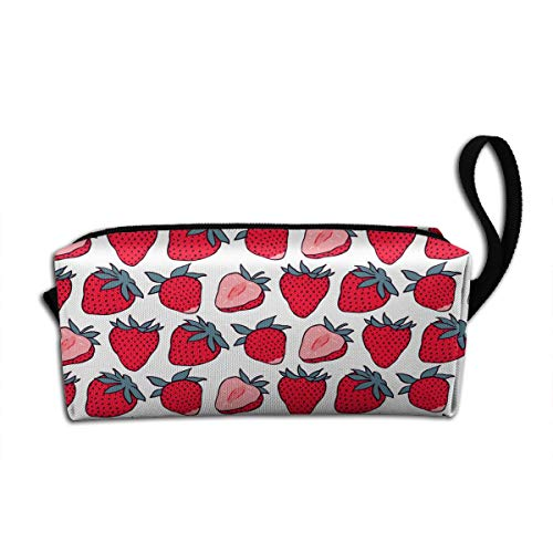 Cute Cartoon Strawberry Makeup Bag Adorable Travel Cosmetic Pouch Toiletry Organizer Case Gift for Women