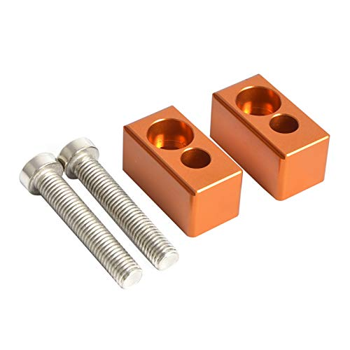 KKOYYRZ 22 mm Manillar Riser/Fit para Sherco Enduro Series/Fit para Husqvarna TC TE 85 125 250 300 350 449 450 480 501 Piezas de la Motocicleta (Color : Orange)