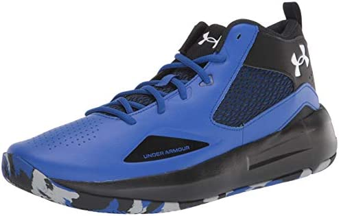 Under Armour unisex child Lockdown 5 Basketball Shoe Royal 400 Black 8 US product image