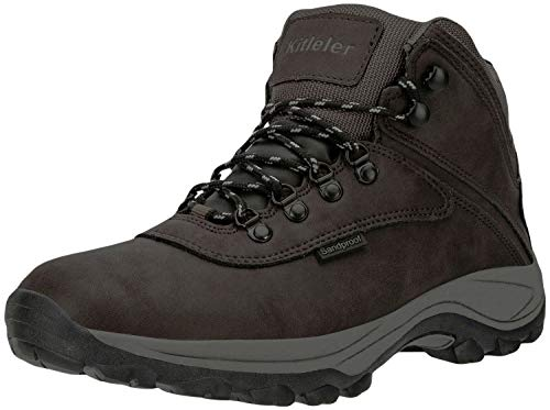 Kitleler Mens Lightweight Ankle Boots Hiking Waterproof Boots(New8808-4Brown-43)