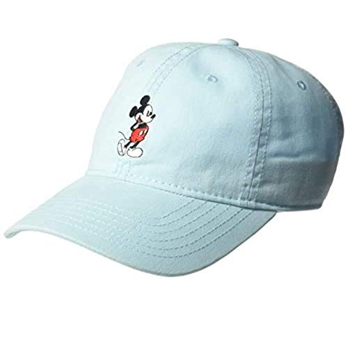 Disney Mickey Mouse Baseball Hat, Washed Twill Cotton Adjustable Cap