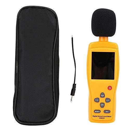 Medidor de nivel de sonido digital, 30-130dB Un medidor de decibelios portátil Medidor de ruido de audio industrial de alta precisión Medidor de nivel de sonido Detector de decibelios