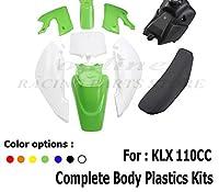 プラスチック用フェアリングキット & シート & 燃料タンクカワサキ KLX 110 KX65 110cc ピットダートバイク-Red