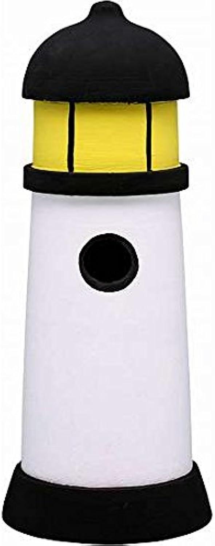 Black & White Lighthouse Birdhouse