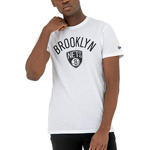New Era Basic Shirt - NBA Brooklyn Nets weiß - L