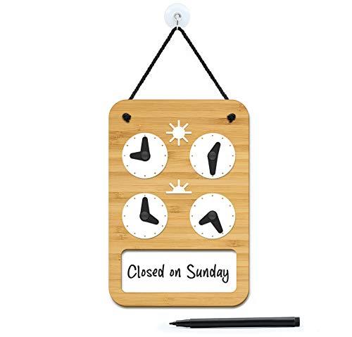 3DP Signs - Design para Personalizar - Cartel Horario de Apertura Ajustable - Minimal OH03 - Placa Horario para Tiendas, Cartel horario Comercio, Placa horario Comercial, Cartel horario Negocio