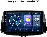 DUMXY Android 8.1 GPS Navigation Car Stereo Radio, para Hyundai I30 2016-2019, 9 Pulgadas Pantalla Táctil Completa Reproductor Multimedia, Bluetooth FM Am Enlace Espejo USB,WiFi:1+16G