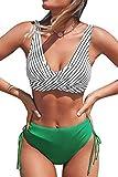 CUPSHE Women's Bikini Sets Ruched Lace up Bikini...