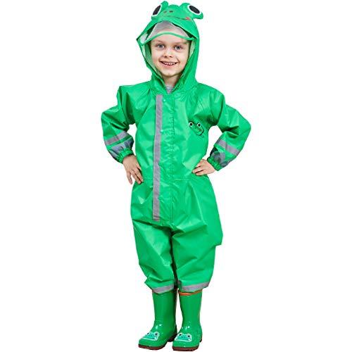 Zilee Kinder Regenanzug Wasserdicht Regen-Overall Regenmantel - Jungen Mädchen Regenkleidung Regenjacke Softshelljacke Regenponcho Outdoorjacke für Schule,Fussball,Wandern