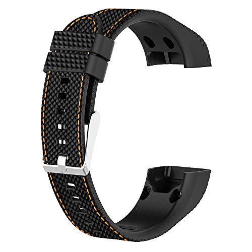 Correa de repuesto para reloj WIIKAI, compatible con Garmin Vivosmart HR, correa de reloj de silicona (naranja)
