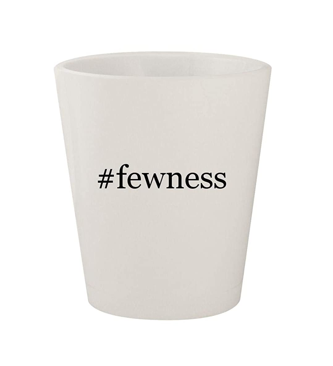 #fewness - Ceramic White Hashtag 1.5oz Shot Glass