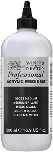 Winsor & Newton 3050935 Glanz Malmittel, verbessert die Transparenz, Tiefe und Glanz von Acrylfarben - 500ml Flasche